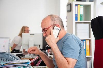 Nikolaus Dürk, Telefonat