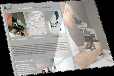 Webseite Dr. Akkad