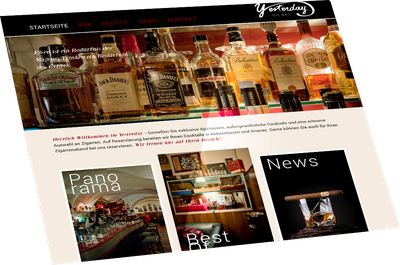 Website Yesterday - the bar