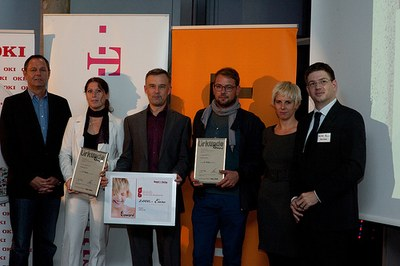 SNOGG.ME wins 2. price at the eAward (Picture Milena Krobath)